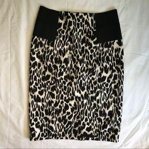 Calvin Klein Animal Print Stretch Skirt